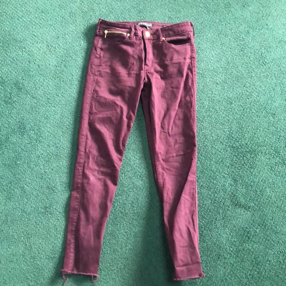 Abercrombie & Fitch Denim - Abercrombie Super Stretch Maroon Jeans